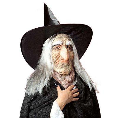 d24f2f581 Maska čarodějnice s kloboukem a vlasy:
